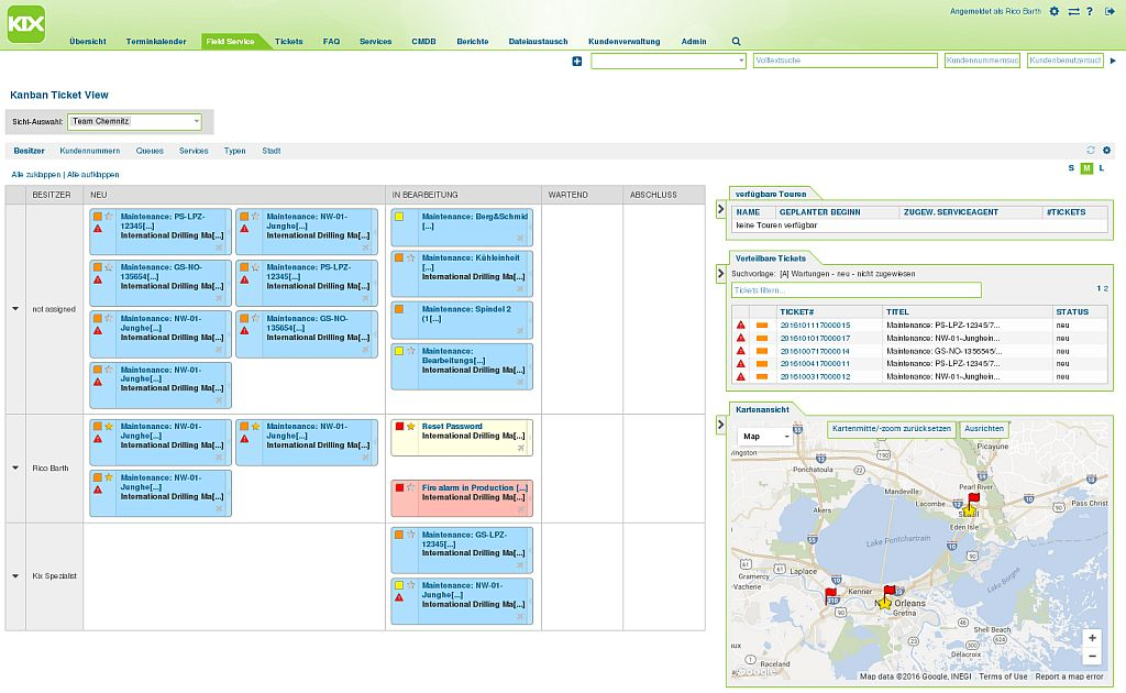 c.a.p.e. IT Kanban-Board-Map